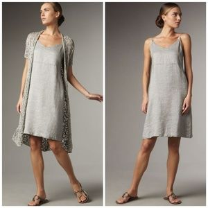 Eileen Fisher Twinkle Linen Shift Dress Size PM